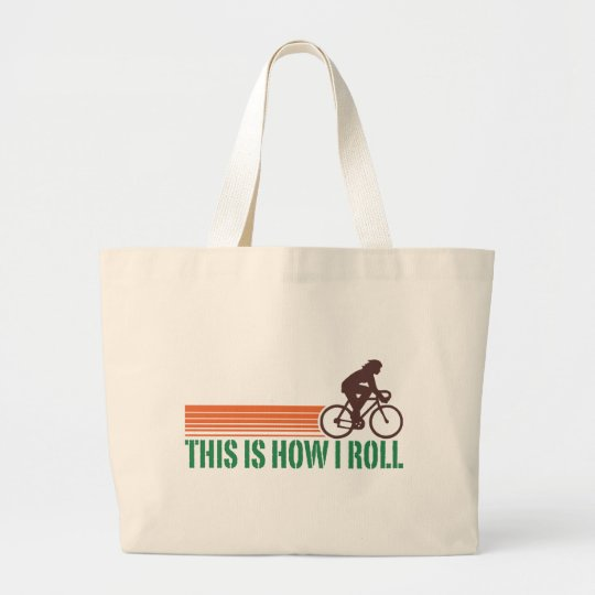 Cycling (female) large tote bag