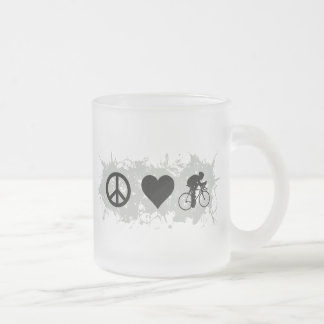 Cycling Frosted Glass Coffee Mug