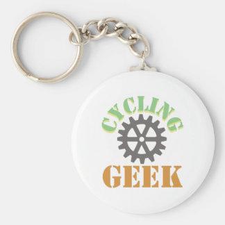 Cycling Geek Basic Round Button Keychain