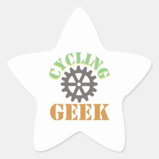 Cycling Geek Star Sticker