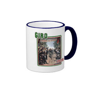 Cycling Giro 1909 Italy flag Retro Vintage Art Mug