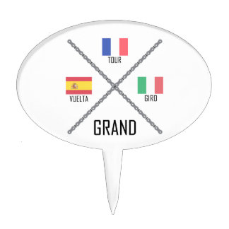Cycling Grand Tours Cake Topper