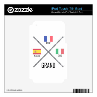 Cycling Grand Tours iPod Touch 4G Skins