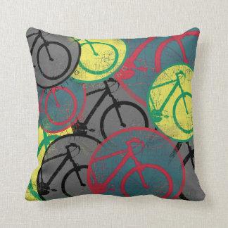 cycling graphic decor idea throw pillow