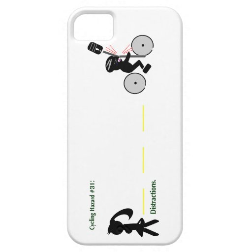 Cycling Hazard: Distractions iPhone 5 Case