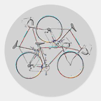 cycling ideas classic round sticker