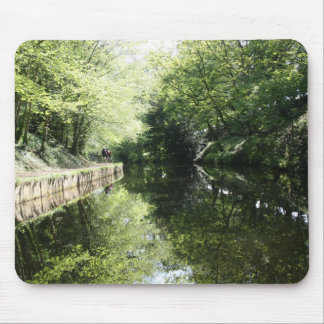 Cycling in Chirk Llangollen Canal Mouse Pad