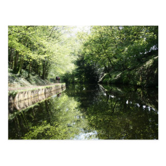 Cycling in Chirk Llangollen Canal Postcard
