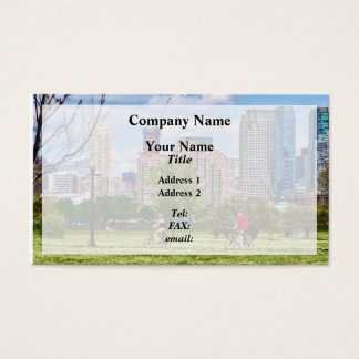 Cycling in Liberty State Park Business Card
