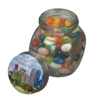 Cycling in Liberty State Park Glass Candy Jars