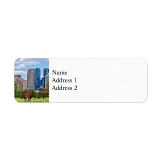 Cycling in Liberty State Park Return Address Label
