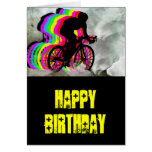 Cycling in the Clouds Greeting Card