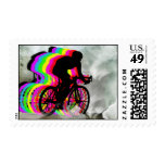 Cycling in the Clouds Stamp