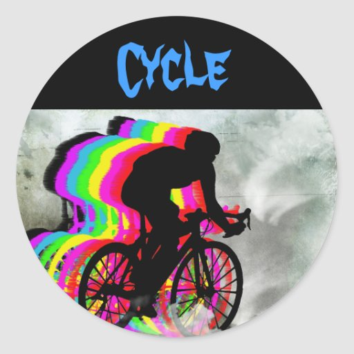 Cycling in the Clouds Sticker