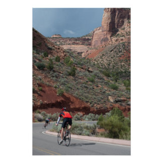 Cycling in the Colorado National Monument Poster