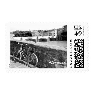 Cycling in the Italian city of Florence Postage