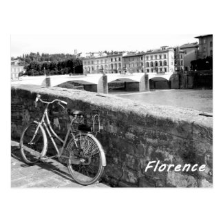 Cycling in the Italian city of Florence Postcard