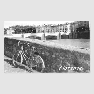 Cycling in the Italian city of Florence Rectangular Sticker