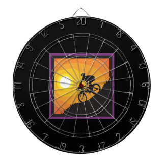 Cycling Into The Sunset Dart Board