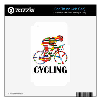 Cycling iPod Touch 4G Skins