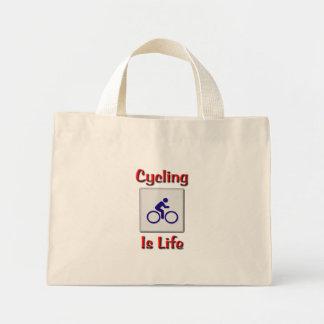 Cycling Is Life Mini Tote Bag