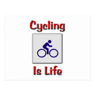 Cycling Is Life Postcard