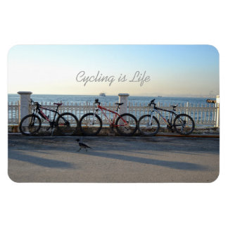 Cycling is Life Rectangular Photo Magnet