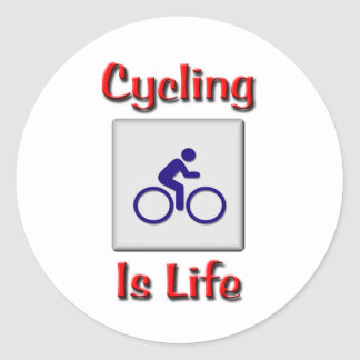 Cycling Is Life Stickers