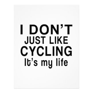CYCLING IS MY LIFE LETTERHEAD