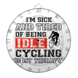 cycling is my therapy dartboard