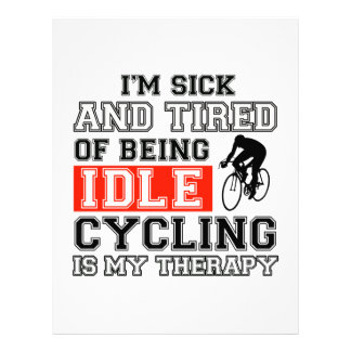 cycling is my therapy personalized letterhead