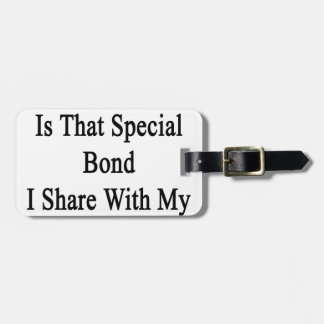 Cycling Is That Special Bond I Share With My Husba Bag Tag