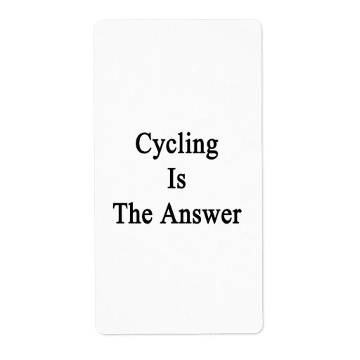 Cycling Is The Answer Shipping Label