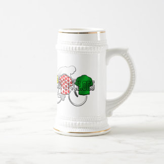 Cycling Jerseys Yellow Green and Red Polka Dot 18 Oz Beer Stein