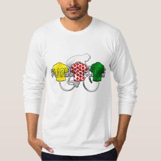 Cycling Jerseys Yellow Green and Red Polka Dot Tee Shirts