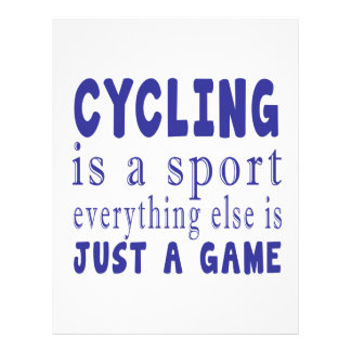 CYCLING JUST A GAME LETTERHEAD