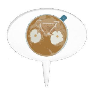 Cycling Latte Art Cake Topper