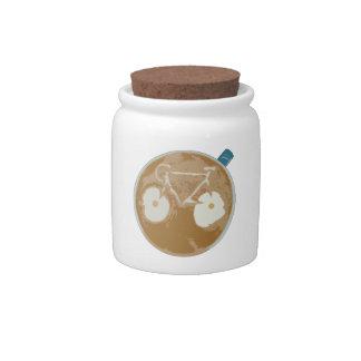 Cycling Latte Art Candy Jars
