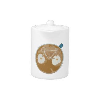 Cycling Latte Art Teapot