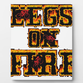 Cycling Legs on Fire Plaque