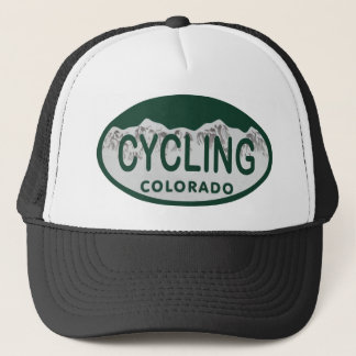 cycling license oval trucker hat