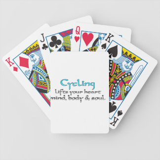 Cycling Lifts Your Heart Mind Body & Soul Bicycle Playing Cards