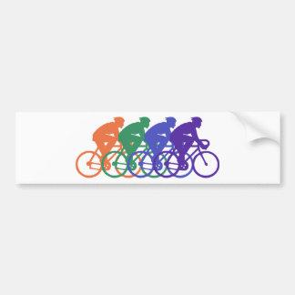 Cycling (male) bumper sticker