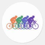 Cycling (male) classic round sticker