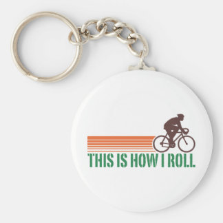 Cycling (male) keychain