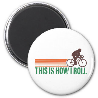 Cycling (male) refrigerator magnet