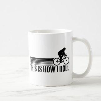 Cycling (male) classic white coffee mug