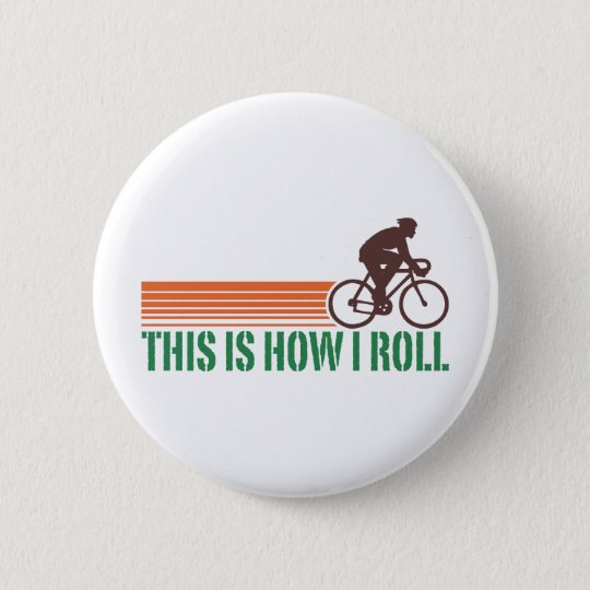 Cycling (male) pinback button