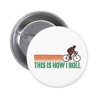Cycling (male) pinback button