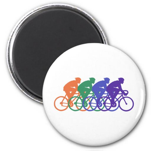 Cycling (male) refrigerator magnets